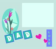 Card for Dad. Here is a card especially for Dad.  A message box is provided for your personalized words Stock Image