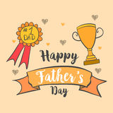 Card for dad happy father day. Vector illustration Stock Images