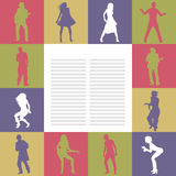 Card With Dancing People Stock Image