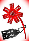 Card for day of Black Friday. Great sale, large discounts Stock Images