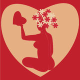Card for day of Valentine Royalty Free Stock Photo