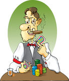 Card Dealer. Would you trust this Dealer?  Think about it Stock Photos