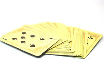 Card deck. On a white background Stock Photo