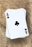 Card deck with  ace on the top Stock Photos