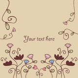Card decorated with flowers Royalty Free Stock Photography