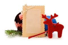 Card and decorations Stock Image