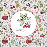 Card with decorative berries Royalty Free Stock Photo