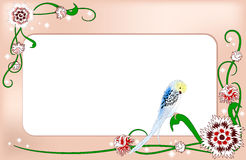 Card with decorative flowers Stock Photography