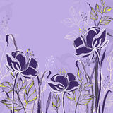 Card with decorative flowers. EPS10 vector illustration. Contains transparency Royalty Free Stock Photography