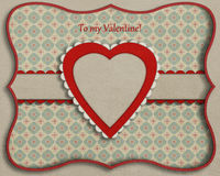 Card with  decorative heart. Stock Images