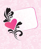 card den rosa valentinen Arkivbilder