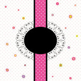 Card design with colorful flower and polka dot Stock Images