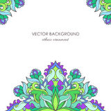 Card design with eastern ethnic decorative pattern Stock Image