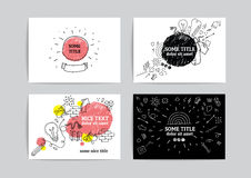 Card design with hand drawn elements Stock Photos