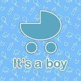 Card design for newborn boy Stock Images