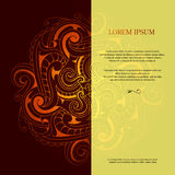 Card design with orient ornament Stock Photography