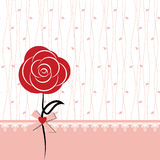 Card design with red rose Royalty Free Stock Image
