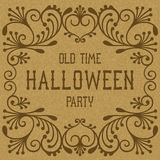 Old time Halloween party Royalty Free Stock Images