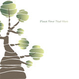 Card design with stylized trees and text Stock Image
