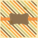 Card Design Vintage Label on Stripe Background Stock Images