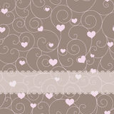 Card design for wedding or valentine's day Stock Photography