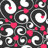 Card design for wedding or valentine's day. Vector seamless pattern Stock Photo