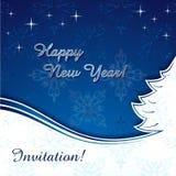 card det lyckliga nya året Royaltyfri Foto