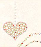 card with diamond heart Stock Images