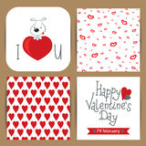 Card with dog for Valentine's Day Royalty Free Stock Photo