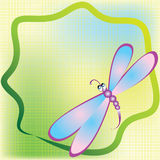 Card with dragonfly Royalty Free Stock Photo