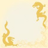 Card with dragons in eastern style Royalty Free Stock Photo