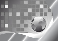Card with earth in grey Royalty Free Stock Photo