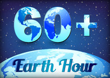 Card for Earth Hour - global annual international event Royalty Free Stock Image
