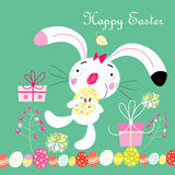 Card with the Easter Bunny Stock Photography