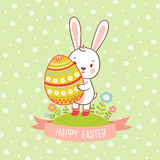Card easter bunny. Stock Photo