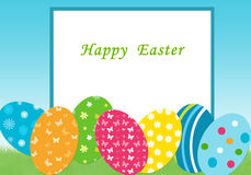 Card for easter day. Colorful card for easter day with easter eggs Royalty Free Stock Photography