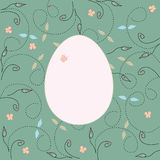Card with easter egg Royalty Free Stock Photos