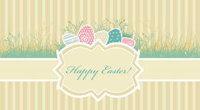 Card with easter eggs royalty free illustration