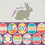 Card with easter eggs on grunge Stock Photos