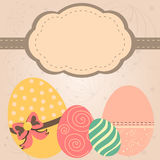 Card in retro style. Card with easter eggs in retro style Royalty Free Stock Image