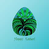 Card of Easter with graphic color egg Stock Photography