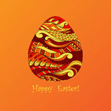 Card of Easter with graphic egg Stock Images