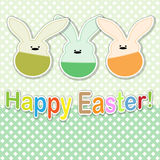 Card, Easter rabbit. Stock Photos