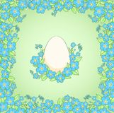 Card with Easter white egg Royalty Free Stock Image