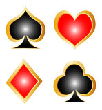 Card Elements Suit Royalty Free Stock Photography