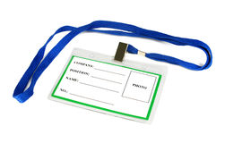 Card empty ID badge Stock Photo
