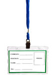 Card empty ID badge Royalty Free Stock Images