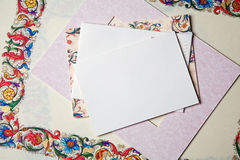 Card and envelope Royalty Free Stock Images