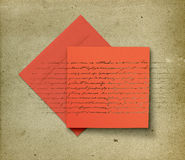 Card and envelope with vintage effect Stock Photo