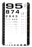 Card for eye test use by doctors Stock Photography